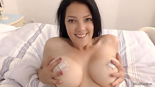 Big Boobs,Brunette,Natural,Solo,Strip,Teen