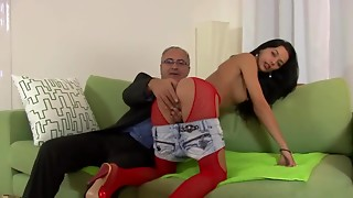 Anal,Brunette,Cumshot,Fucking,Mature,Old and young,Panties,Pantyhose,Petite,Softcore