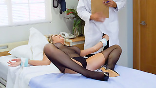 Babe,Blonde,Doctor,Fucking,Uniform