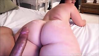 BBW,Big Ass,Big Boobs,Big Cock,Blowjob,Brunette,Cumshot,Facial,Fucking,Interracial