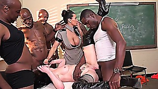 Big Cock,Gangbang,Group Sex,Fucking,Interracial,Mature,MILF,Stepmom