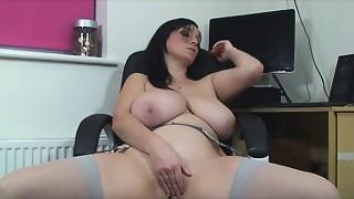 Big Boobs,Housewife,MILF,Orgasm,Solo,Stockings,Wife