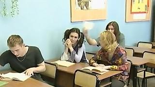 Blonde,Double Penetration,Group Sex,Lesbian,Redhead,Russian,School,Slut,Teen,Threesome