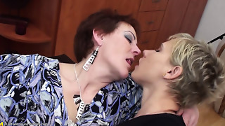 Gym,Lesbian,Mature,MILF,Old and young,Pissing,Seduced,Stepmom,Teen,Threesome